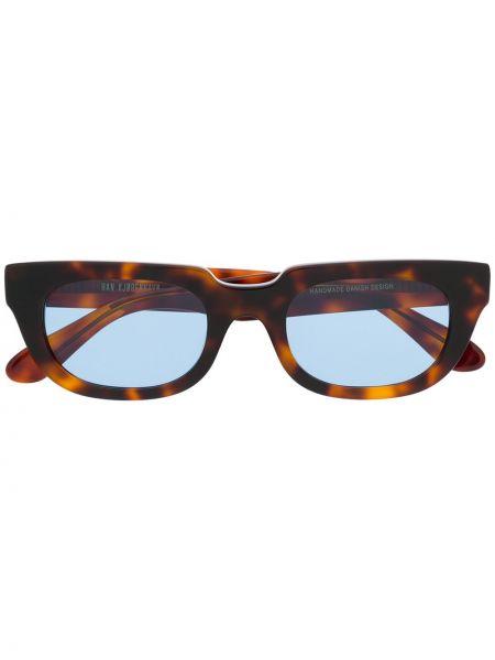 Прямые муслиновые солнцезащитные очки прямоугольные хаки Han Kjøbenhavn