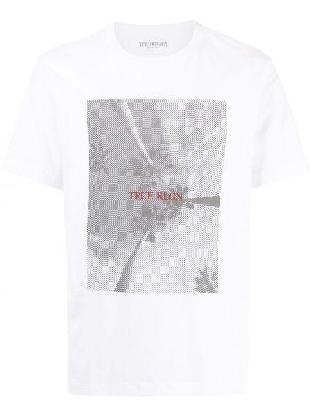 T-shirt z printem - biała True Religion