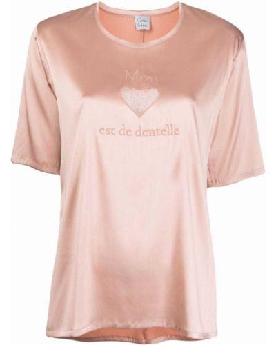 Шелковая футболка - розовая Carine Gilson