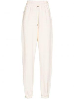 Белые зауженные спортивные брюки на шнуровке Frankie Shop