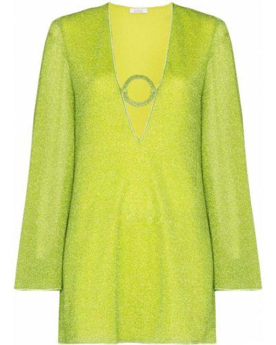Zielony sweter z dekoltem w serek Oséree