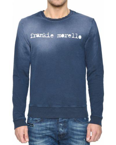 Хлопковый джемпер - синий Frankie Morello