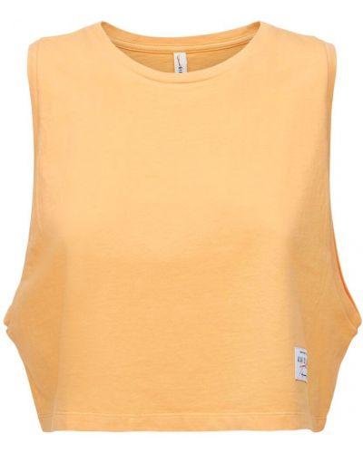 Pomarańczowa koszulka z haftem Adam Selman Sport