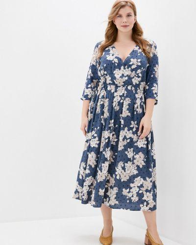 Повседневное синее повседневное платье Ulla Popken