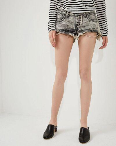 Серые джинсовые шорты One Teaspoon