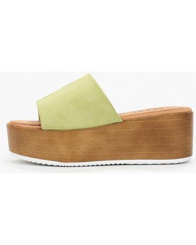 Текстильные зеленые сабо Go-go
