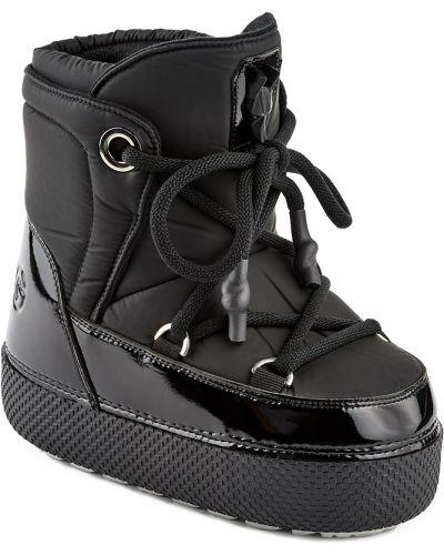 Кожаные черные луноходы на шнуровке Jog Dog