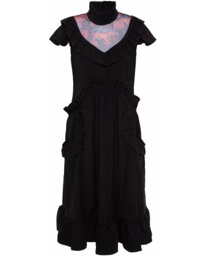Платье миди - черное Coach