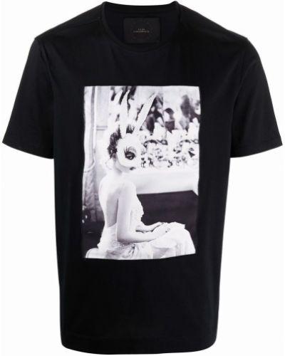 Czarna koszulka z printem Limitato