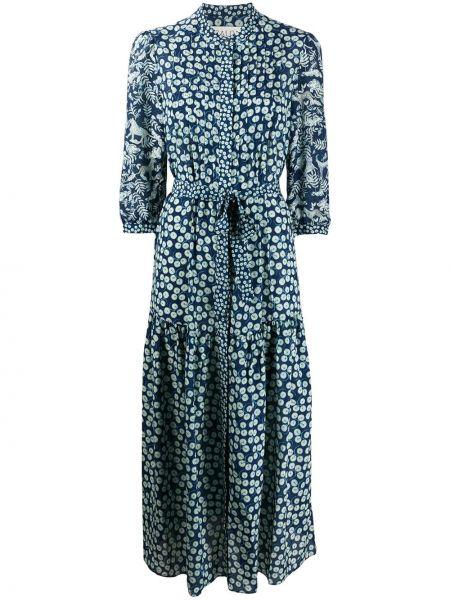 Платье мини на пуговицах плиссированное Saloni