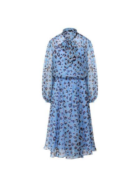 Платье леопардовое шифоновое Escada
