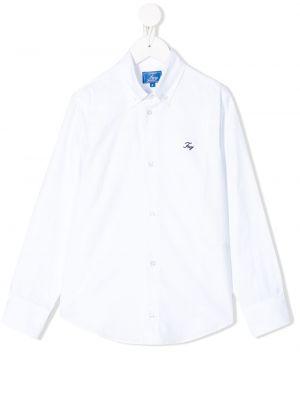 Рубашка на пуговицах белая Fay Kids