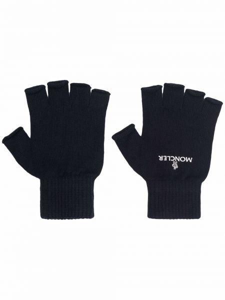 Rękawiczki bez palców wełniane - czarne Moncler