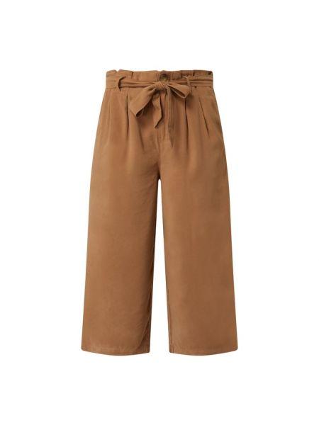 Beżowe spodnie z wiązaniami Only