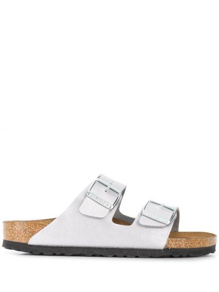 Открытые кожаные сандалии с открытым носком Birkenstock
