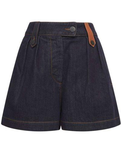 Джинсовые джинсовые шорты Loewe