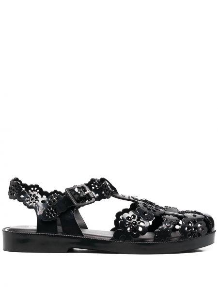 Черные сандалии с пряжкой Viktor & Rolf