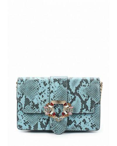 Синяя кожаная сумка Mango