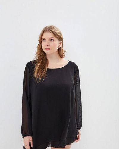 Блузка осенняя черная Darissa Fashion