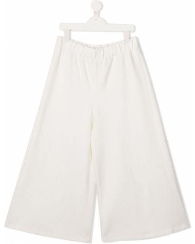 Брючные белые укороченные брюки свободного кроя Mariuccia Milano Kids