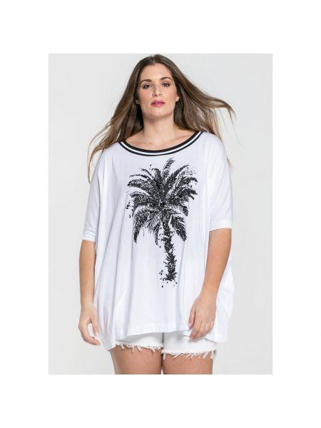 Белая футбольная футболка с круглым вырезом с короткими рукавами Mat Fashion