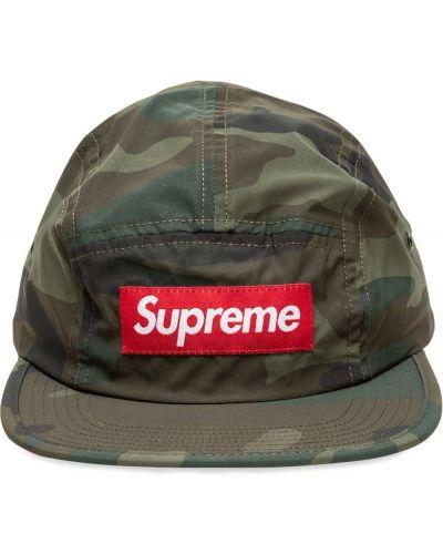 Zielona czapka Supreme