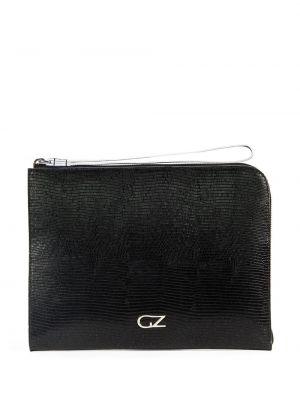 Czarny skórzana torba z prawdziwej skóry Giuseppe Zanotti