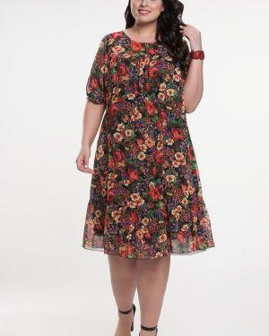 Платье в цветочный принт прима линия