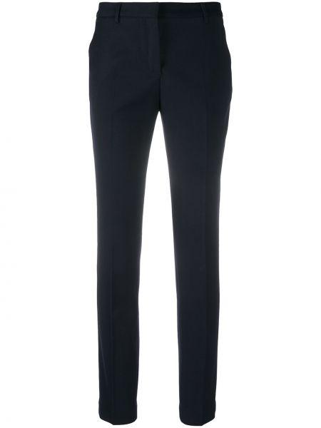 Зауженные шерстяные синие брюки Tonello
