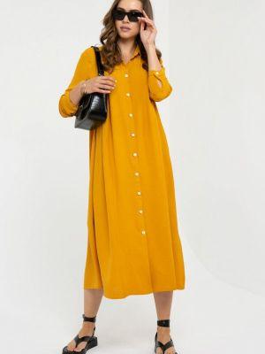 Платье - оранжевое Gold Chic Chili