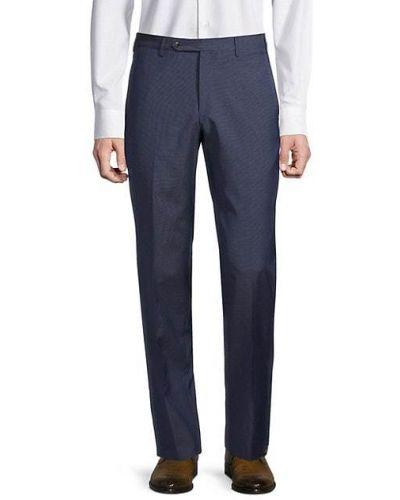 Шерстяные брюки с карманами с декоративной отделкой Zanella