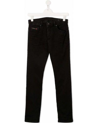 Кожаные черные джинсы на молнии Diesel Kids