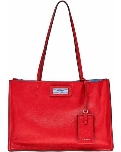Кожаный сумка с ручками замшевая Prada
