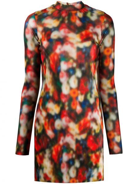 Платье макси с длинными рукавами - красное Frankie Morello