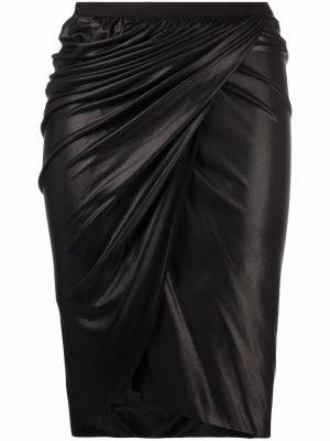 Юбка карандаш - черная Rick Owens Lilies