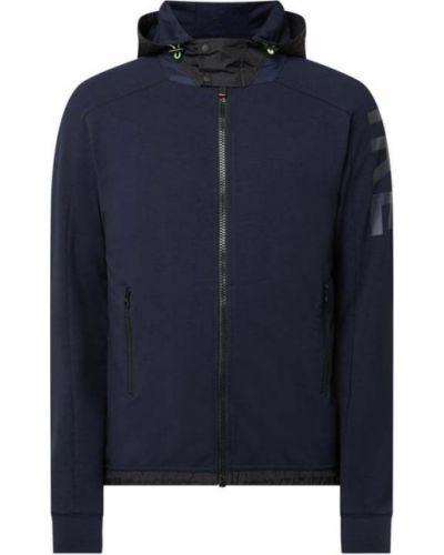 Niebieska kurtka z kapturem z raglanowymi rękawami Bogner Fire + Ice