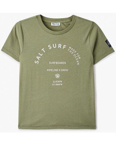 Зеленая с рукавами футболка Sela