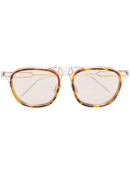 Brązowe okulary z akrylu Calvin Klein 205w39nyc