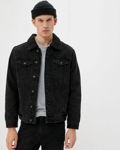 Черная джинсовая куртка Springfield