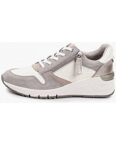Кожаные кроссовки - серые Tamaris