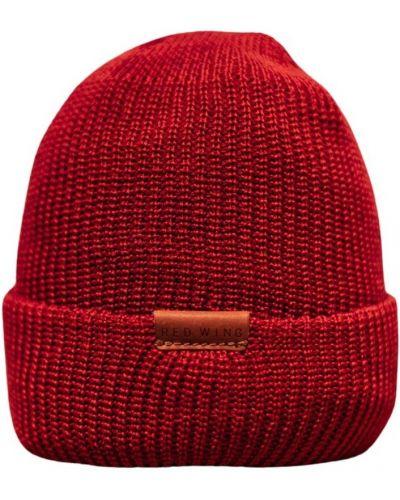Czerwona czapka beanie Red Wing Shoes
