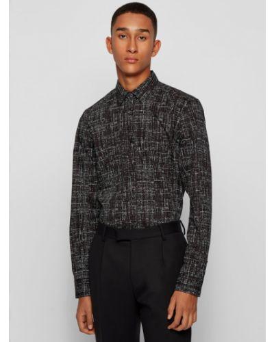 Koszula slim - czarna Boss