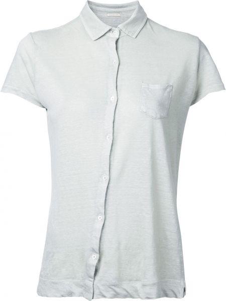 Хлопковая короткая рубашка с воротником Massimo Alba