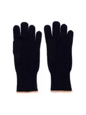 Rękawiczki - niebieskie Brunello Cucinelli