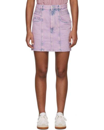 Синяя джинсовая юбка с карманами Isabel Marant Étoile