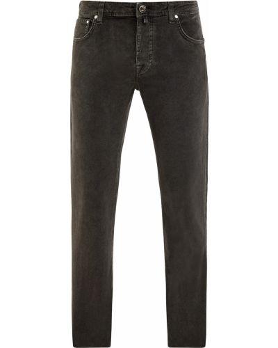Зеленые джинсы вельветовые с сеткой Jacob Cohen