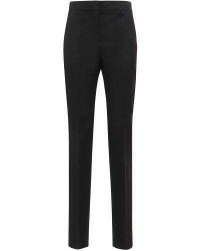 Czarne spodnie z wysokim stanem bawełniane Givenchy