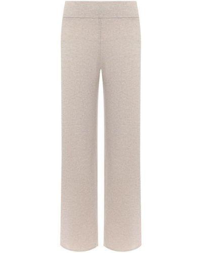 Кашемировые бежевые брюки эластичные Le Kasha