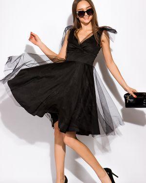 Платье с поясом из фатина на торжество Time Of Style