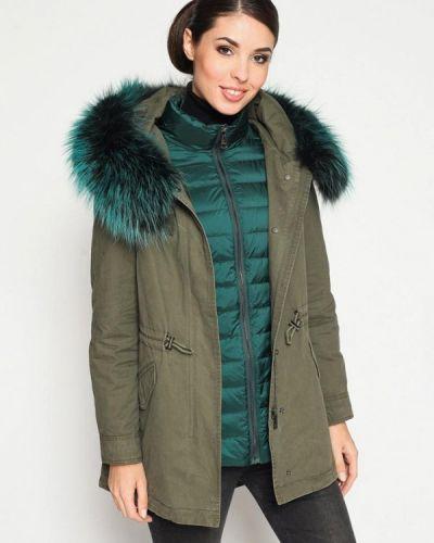 Зимняя куртка осенняя зеленая Prima Woman